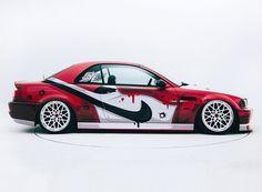 400ML + iACRO create a NIKE jordan-inspired BMW M3