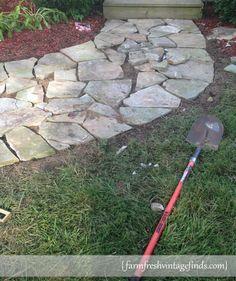 How to turn rocks into a sidewalk