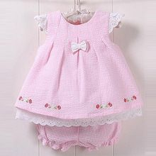 Hot new baby girl cute dresses plaid bowknot kids summer baby clothing sets dess… Frocks For Girls, Kids Frocks, Little Girl Dresses, Girls Dresses, Wholesale Baby Clothes, Baby Dress Design, Baby Dress Patterns, Baby Suit, Toddler Dress
