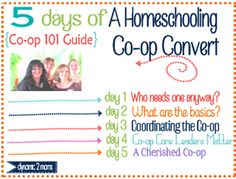 5 days of a homeschooling co-op convert–day 5: cherished co-ops