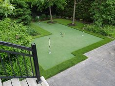 Artificial Grass golf putting greens for your residential and commercial application.Enjoy the play at home in your backyard with your friends and family. Golf Putting Green, New Hobbies, Indoor Outdoor, Grass, Golf Courses, Sunday, Backyard, Domingo, Patio