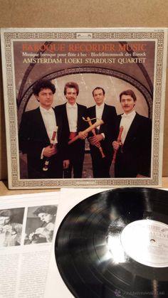STARDUST QUARTET. BAROQUE RECORDER MUSIC. LP / L'OISEAU-LYRE - 1987. BC **/***
