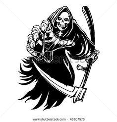 stock vector : Tribal grim reaper