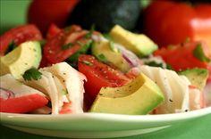 Imitation crab & avocado salad