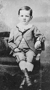 HERBERT HOOVER- 31st US President  Tintype of Hoover c. 1877