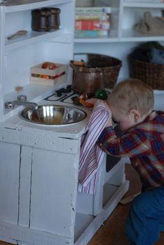 handmade play kitchen