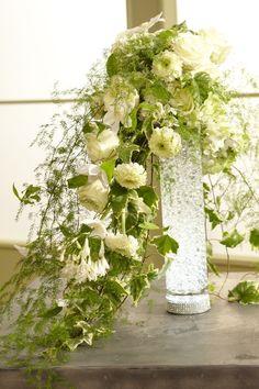 Cascading Bridal Bouquets, Cascade Bouquet, Wedding Bouquets, Wedding Dresses, Summer Flower Arrangements, Table Arrangements, Summer Flowers, Wedding Table Flowers, Wedding Decorations