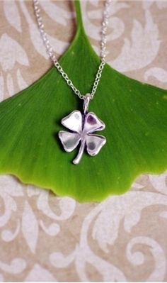 Shamrock necklace - looking forward to the days when my small people don't rip jewelry off of me anymore.