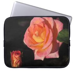 Pink and Yellow Roses Laptop Sleeve - floral gifts flower flowers gift ideas