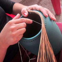 west elm pine needle clay vases #Pottery #Art