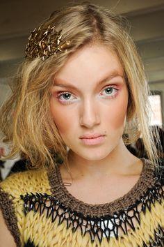hair and make-up, beauty at Rodarte
