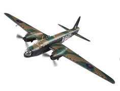 Corgi 1:72 Vickers Wellington Diecast Model Airplane - AA34806 Vickers Wellington Mk.II Merlin Engines (104 Sqn RAF 1941) Diecast Model Airplane. It is made by Corgi and is 1:72 scale (approx. 43cm / 16.9in wingspan). The most effective of the British medium to heavy bombers in service at the outbreak of the Second World War, the Vickers Wellington benefitted from an innovative construction method. Its 'Geodesic' structure made the aircraft very strong, able to absorb considerable damage ...