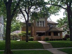 Rollin Furbeck House, Oak Park, Illinois, Frank Lloyd Wright architect