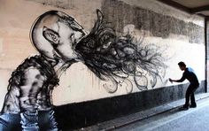 Street art.  Looks like an addict's soul leaving his body..