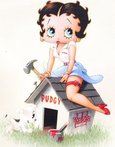 Betty Boop....Pudgy's dream home.