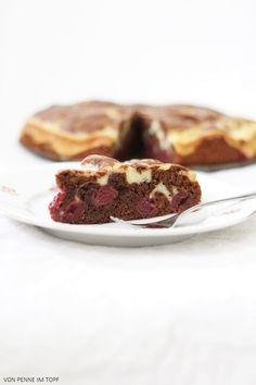 Penne im Topf: Schoko - Crème Fraîche - Kirschkuchen