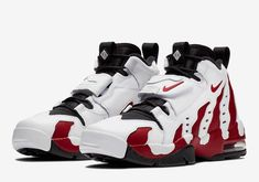 Official Images: Nike Air DT Max 96 Varsity Red - Dr Wong - Emporium of Tings. Kicks Shoes, Shoes Sneakers, Men's Shoes, Sneakers Fashion, Fashion Shoes, Mens Fashion, Zapatillas Nike Jordan, Nike Boots, Nike Basketball Shoes