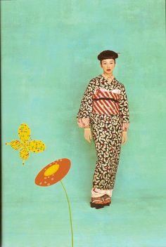 Kimono-hime issue 1. Fashion shoot page 8 by Satomi Grim, via Flickr