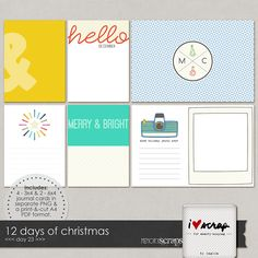 Memory Scraps Free Christmas Project Life Cards | [ One Velvet Morning ]