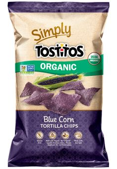 Simply TOSTITOS® Organic Blue Corn Tortilla Chips