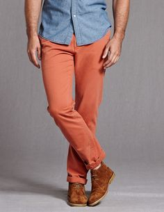 Vintage Slim Fit Chinos-Boden     love this color
