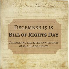 On this day in 1791, the first 10 amendments to the U.S. Constitution, known collectively as the Bill of Rights, become law after ratification by Virginia. Happy Bill of Rights Day! ** #usconstitution #constitution #billofrights #law #legal #otd #history