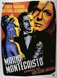 María Montecristo (1951) de Luis César Amadori - tt0178741 Guernica, Vintage Movies, Movie Posters, Drama, Decor, Posters, High Society, Mexican Actress, Childhood Memories