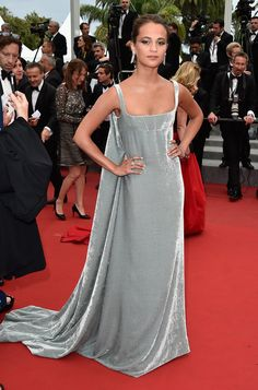 Dressed to Impress at the Cannes Film Festival - Alicia Vikander-Wmag