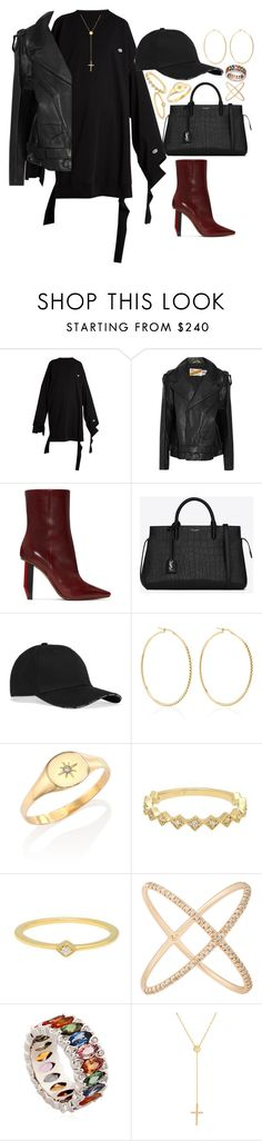 """""""Doing it wrong"""" by liberhty ❤ liked on Polyvore featuring Vetements, Yves Saint Laurent, Magdalena Frackowiak, Jacquie Aiche, Eva Fehren, Niquesa and Lana Jewelry"""