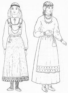 Slavic costumes - Belarus, 11th-12th centuries