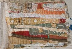 DJ Pettit... signature wrap from one of her fabric journal #mixed_media #stitching