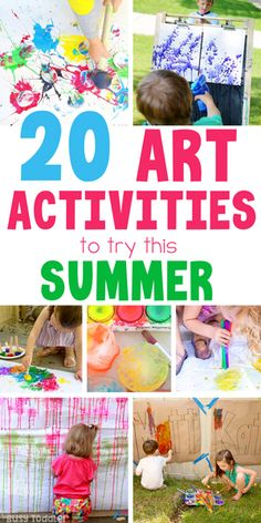 An awesome list of outdoor activities for kids from Busy Toddler. Check out this collection of art, STEM, water play, and easy activities for all ages. List Of Outdoor Activities, Summer Art Activities, Rainy Day Activities, Toddler Learning Activities, Preschool Activities, Activity Days, Indoor Activities, Family Activities, Summer Fun List