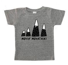Movin' Mountains Kid's T-Shirt Hipster Kids Clothes, Florida Usa, Orlando Florida, Funny Kids Shirts, Bachelorette Party Shirts, Grey Tee, Gray, Trendy Kids, Tank Shirt
