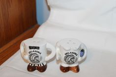 Vintage Ceramic Man Woman Oklahoma Lower Bodies Salt & Pepper Shakers FOR SALE • $7.99 • See Photos! Money Back Guarantee. VINTAGE CERAMIC MAN WOMAN OKLAHOMA LOWER BODIES SALT & PEPPER SHAKERS. This is a wonderful set . They are in great shape. They do not have any cracks, chips or 371405883174