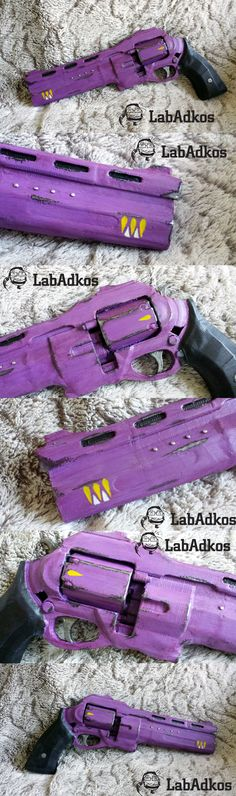 """This hand cannon was commissioned for those Wolves who pledged allegiance to the Queen after the Reef War.  3D printed on a PrintRBot, painted by hand by myself. It used the 3D model of """"The Last Word"""", taken from the android Destiny app.   #Destiny #DestinyTheGame #HerMercy #QueenOfTheReef #HandCannon #cosplay #repca #prop #replica"""