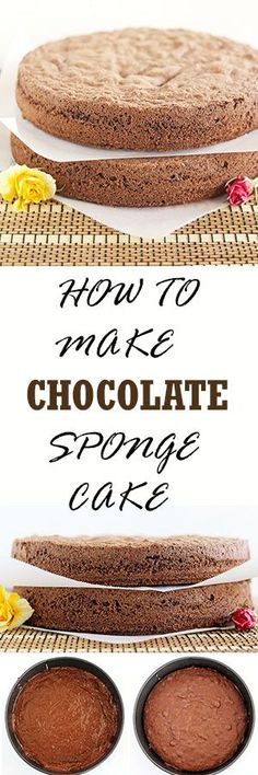 Chocolate Sponge Cake is also known as Chocolate biskvit. It is very similar to traditional white biskvit except you add cocoa powder and less flour to make a perfect chocolate sponge cake layers that can serve as a base for many different chocolate cake recipes or desserts.