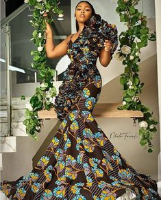 African Formal Dress, African Print Wedding Dress, African Prom Dresses, Latest African Fashion Dresses, African Print Fashion, African Dress, African Clothes, African Style, African Beauty