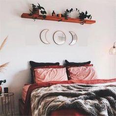 Moon Mirror, Mirror Set, Bohemian Wall Decor, Bohemian Soul, Bohemian Living, Interior Decorating, Interior Design, Nordic Design, Nordic Style