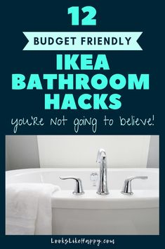12 Budget Friendly Ikea Bathroom Hacks You're Not Going to Believe | I can't wait to upgrade my bathroom stools!  #bathroomstorage #ikeahack