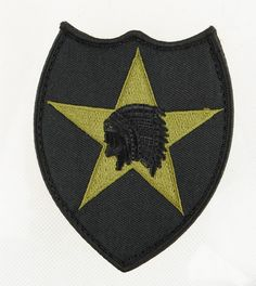 Airsoft Velcro Strap patch Indian Warriors BK