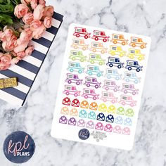 Happy Mail Planner Stickers. Set of 48. Perfect for by KPLPlans
