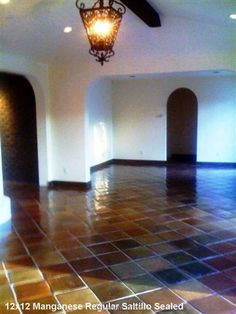 I love these high gloss saltillo tile floors. Maybe one day. Probably not the best choice for resale value huh?