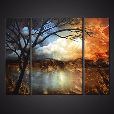 Original abstract art paintings by Osnat - landscape decor