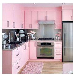 Der schnelle Weg zu einer rosa Küche: Rosa Küchenschrank-Aufkleber ...