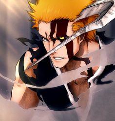 Bleach Ichigo Hollow, Bleach Ichigo Bankai, Bleach Anime Art, Bleach Manga, Bleach Characters, Anime Characters, Anime Cover Photo, Anime Gifts, Naruto