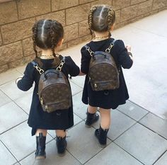 Louis Vuitton twin girls