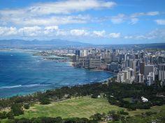 Waikiki Beach from Diamond Head ☼ History, culture and fun - things to do in Oahu Hawaii http://www.thewondermap.com/things-to-do-in-oahu-hawaii/