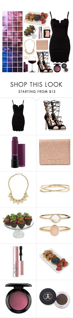 """Feel my lightning"" by shelbyox ❤ liked on Polyvore featuring Glamorous, Gianvito Rossi, MAC Cosmetics, Michael Kors, Jules Smith, Nadri, Golden Edibles, Accessorize, Too Faced Cosmetics and NARS Cosmetics"