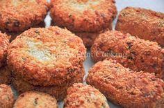 Breadfruit fish cakes     breadfruit, saltfish, onion, garlic, pimento peppers, paprika pepper to taste, panko breadcrumbs for dusting