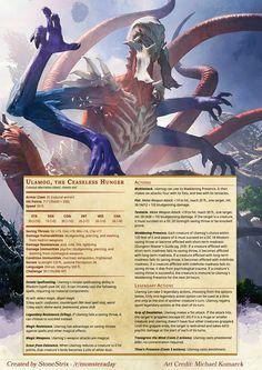 Ulamog, the Ceaseless Hunger - Imgur Dark Fantasy Art, Fantasy Artwork, Fantasy Monster, Monster Art, Lovecraftian Horror, Mtg Art, Arte Obscura, Dungeons And Dragons Homebrew, Legendary Creature